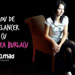 Birou de freelancer cu Andreea Burlacu, a înlocuit scaunul cu un leagăn și muzica cu știri