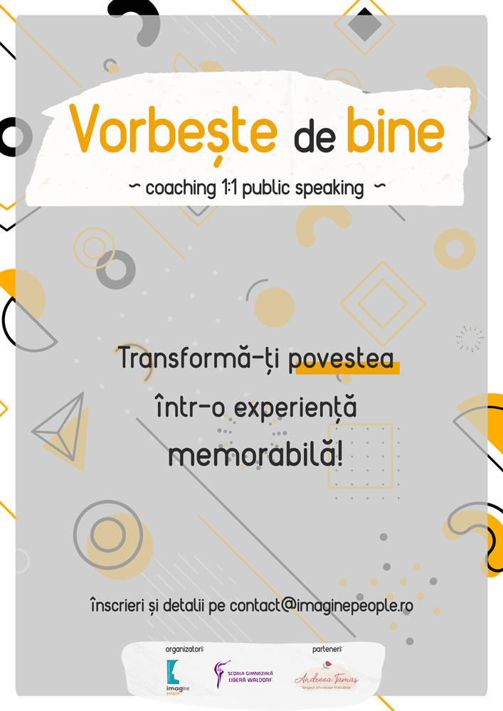 Vorbește de bine - Coaching de public speaking 1 la 1